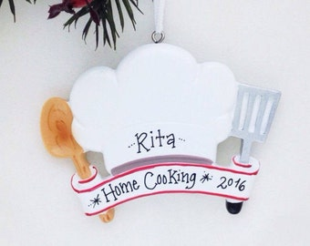Chef Personalized Christmas Ornament / Cooking Ornament / Cook / Personalized Ornament