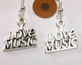 Music Earrings,I love Earrings, Earrings Jewellery, Themed Jewellery