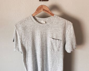 Basic Vintage Gray Pocket Tee