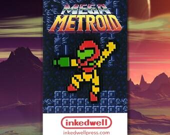 Mega Metroid (Metroid x Mega Man Mashup) Enamel Pin