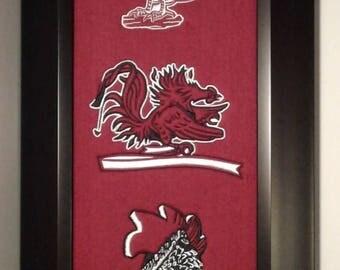 South Carolina Heritage Team Banner....Framed