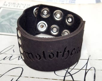 Motörhead Leather Wristband Cuff Bracelet - Genuine First Class Leather -men leather bracelet - woman leather bracelet