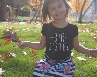 Girls big sis shirt, big sister shirt|Big Sister Shirt | Little Sister Shirt | Sister Shirts Pregnancy Announcement Baby Announcement Shirt