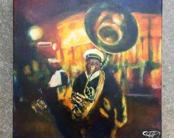 Brass at night