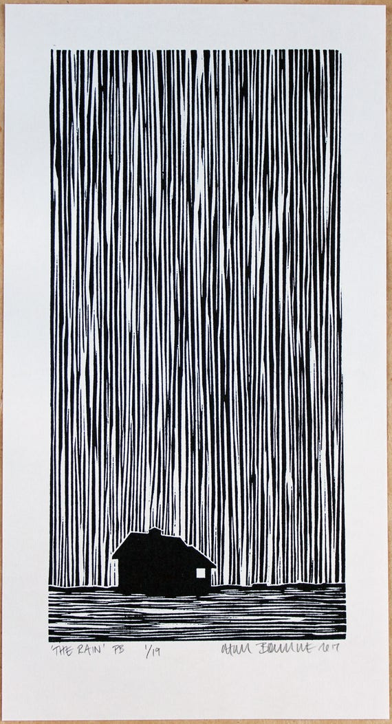 chris bourke lino print