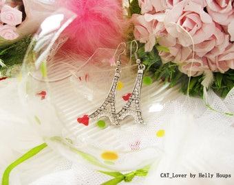 Earrings Paris Eiffel Tower Charm Dangle Earring France Earring Gift for Girlfriend Gift for Mom