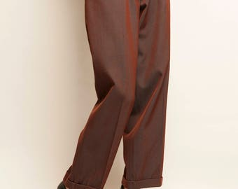 Thierry Mugler 1980's purple high waist pants