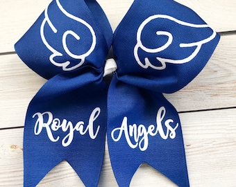 cute softball bow // cheerleading competition bow // softball accessories // cheerleading glitter bow // team gift  // softball bow