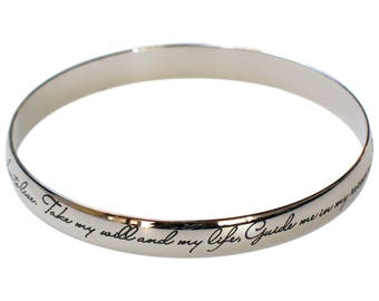 NA Narcotics Anonymous 3rd Third Step Prayer Bangle Bracelet Jewelry  | NA Narcotics Anonymous |  Clean and Sober Gift  | Anniversary