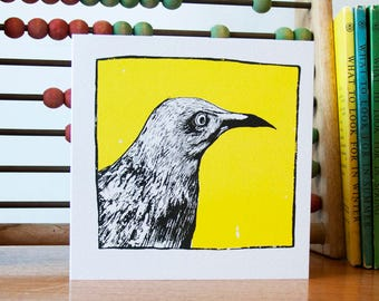 Greeting Card - Hand Illustrated - Bird Artwork - Blank Card - Special Occasion - Nature Art - Gift for Him - Gift for Her - Wildlife Design