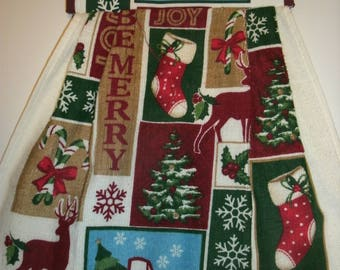 Dish towels, Pot Holder Towel Set, Holiday Gift, Home decor, Holiday Towels, Christmas towels, Hanging towel, Kitchen towel,