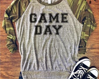 Game Day Jersey Slouchy Pullover, Game Day shirt, Football Shirt, Game Day Clothing, Tailgate hoodie