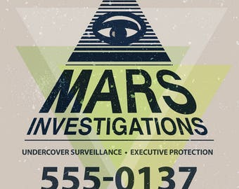 Mars Investigations Veronica Mars Tv Poster (8x10, 11x17, or 13x19)