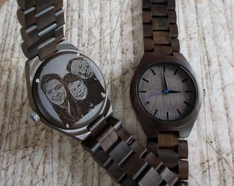 Mens Gift, Engraved Mens Wooden Watch, Mens Watch, Menu0027s Watch, Valentines  Day