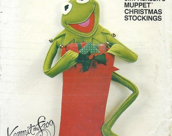 80s Vogue 8509 Kermit the Frog Stocking Sewing Pattern UNCUT