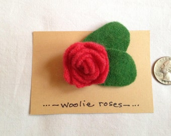 Child's Felted Wool Rose Pin