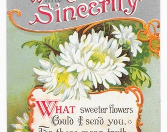 Chrysanthemums for Sincerity Postcard, c. 1910