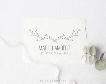 Photography Logo Design, Branding Kit, Custom Logo, Boutique Logo, Boho Logo, Photo Logo, Floral Logo, Wedding Logo, Feminine Logo, L072