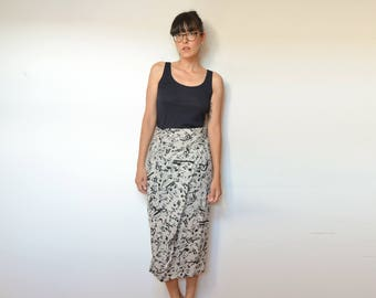 90s Music Notes Long Faux Wrap Skirt, All That Jazz Summer Skirt, M