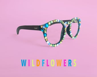 Starry Eye Bedazzled Round Glasses