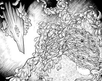 """Original """"Legion"""" Illustration from The Adventure Zine, 17x14 in"""