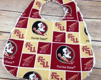 Florida State University Bib - FSU - Florida State University Girl Bib - Florida State University Boy Bib -  FSU Baby Shower Gift