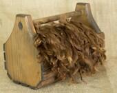 Washed Brown Suri Alpaca Locks: 1 ounce (Laycee Boy) Fiber for Felting, Spinning or Doll Hair