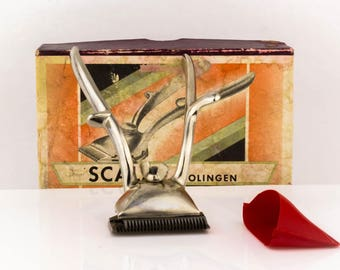 Vintage Complete Scala Solingen Hair Clipper Barber Set Germany Box and Papers