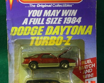 Vintage scarce NOS 1984 Dodge promotional Dual pack Dodge Dayton Turbo - / 1984 Dodge Caravan unused rub match and win.
