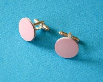 Cufflinks pink, Leather anniversary, Women suit cufflinks, Unisex  cufflinks, Valentines for him, Pink for him, Groomsmen pink gift, Leather