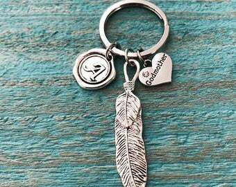 SALE, SILVER KEYRING, Godmother Jewelry, Godmother gift, Godmother Keychain, Gift for Godmother, Personalized, Customized, Baptism, keepsake
