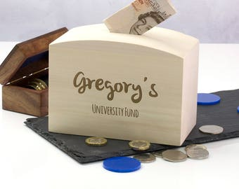University Fund Money Box - Personalised Money Box - Teenager Gifts - Gift For Teenagers - Graduation Gift - Money Bank - LC223