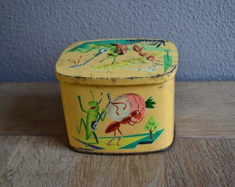 Vintage the Ant and the Grasshopper Cote d'Or chocolate tin