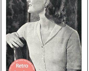 Crocheted Tailored Blouse 1950s Pattern - PDF Crochet Pattern - PDF Instant Download