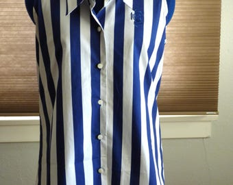 90s Marithe Girbaud Francois sleeveless striped shirt