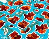 Cute Sticker-Sheet with Red Pandas by Neophobica
