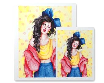 Bluebow / Art Print / Fashion Illustration