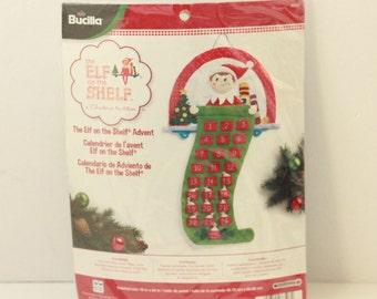 "Bucilla The Elf On The Shelf Advent Felt Advent Kit #86507 New sealed 18"" x 24"""