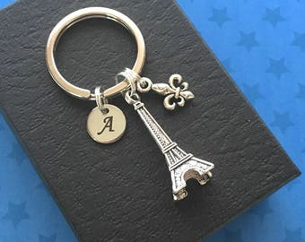 Personalised gift - Eiffel Tower keychain - Paris keyring - Paris gift - Eiffel Tower keyring - Stocking filler - Secret Santa gift UK