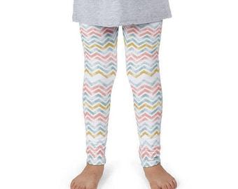 Toddler Leggings, Chevron Leggings, Zig Zag Leggings, Kids Leggings, Pastel Leggings, Girls Leggings, Tribal Leggings, Aztec Leggings,