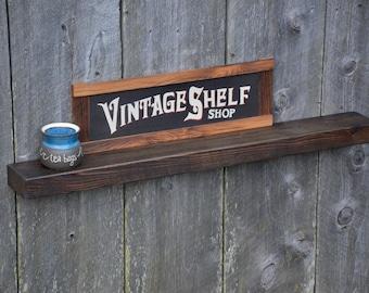Reclaimed Chestnut Floating Shelf, Display Shelf, Art Display