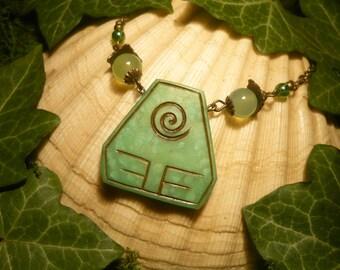 RESERVED for J.Banks - Element Earth - handcrafted Necklace - Avatar The last Airbender, Legend of Korra