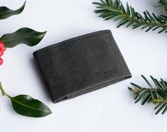 Minimalist Wallet (Front Pocket Wallet, Credit Card Holder, Black Slim Wallet, Vegan Wallet, Slim Wallet with Coin Pocket, Mens Gift)