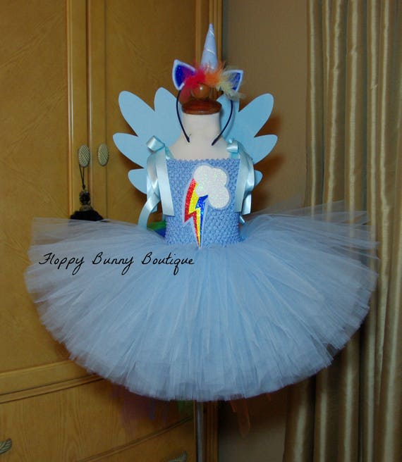 Rainbow Dash Tutu Dress, Birthday, photo prop, Holloween, Rainbow ...