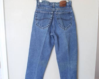 vintage LEE 1980's high rise distressed  mom  jeans denim 26