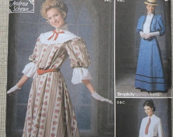 Andrea Schewe Design in Sizes 14 to 20 All Uncut/FF Simplicity Sewing Pattern 9723 Costumes On Stage School Marm