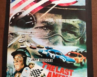 Original vintage 1973 The LAST AMERICAN HERO Jeff Bridges nascar movie poster