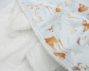 Animal Babies Minky Baby Blanket - Made to Order