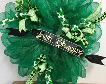 Irish Blessings St. Patricks Day wreath