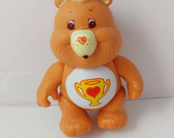 Champ Bear Care Bears Mini Poseable PVC Toy Figure 1980s Care Bears